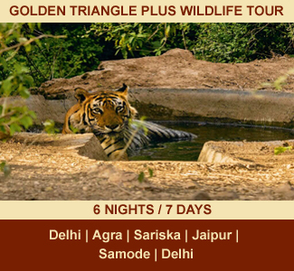 GOLDEN TRIANGLE PLUS WILDLIFE TOUR | 06-NIGHTS / 07-DAYS | Rajasthan Package Tour | DELHI - AGRA - SARISKA - JAIPUR - SAMODE - DELHI